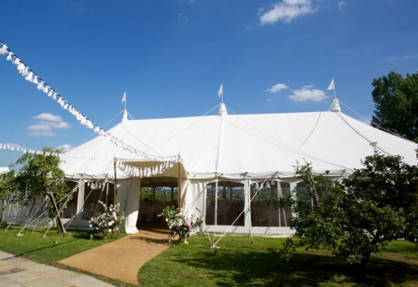Wigwam Marquees Kent round ended cream canvas marquee hire Case Studys Round Ended Wedding