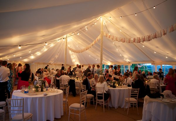 Wigwam Marquees Kent round ended cream canvas marquee hire Case Studys Round Ended Wedding 4 6
