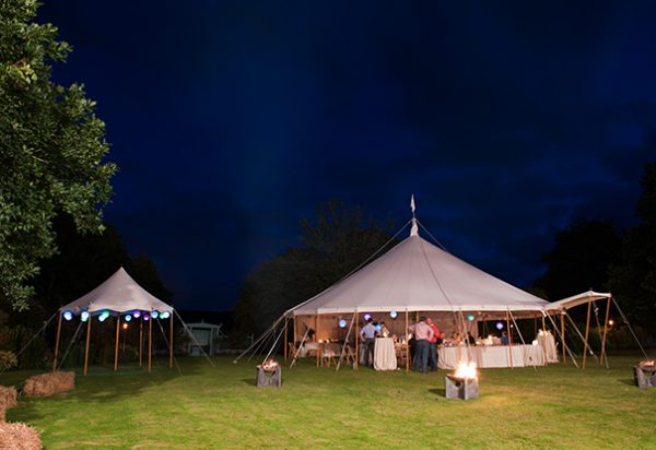 Wigwam Marquees Southeast traditional cream canvas marquee hire  Case Study Round Wedding