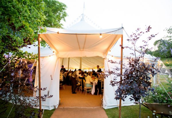 Wigwam Marquees cream canvas round ended marquee hire Midhurst Case Study 3 Round Ended Wedding