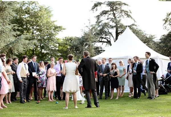 Wigwam Marquees Cream canvas marquee hire southeast  Round Ended Wedding Harry & Maya