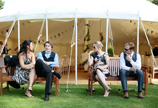 Wigwam Marquees Cream canvas marquee hire southeast  Case Study Round Ended Wedding