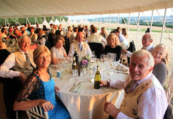 Wigwam Marquees Kent Case Study Round Wedding 4 Traditional cream canvas round marquee hire