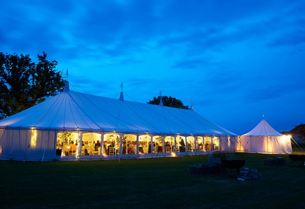 Wigwam Marquees round ended cream canvas marquee hire southeast  Case Study Round Ended Wedding
