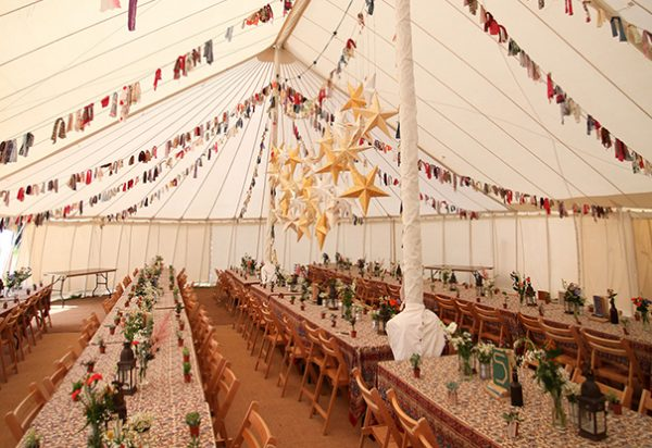 Wigwam Marquees Southeast round canvas marquee hire Wedding Flora & Luke