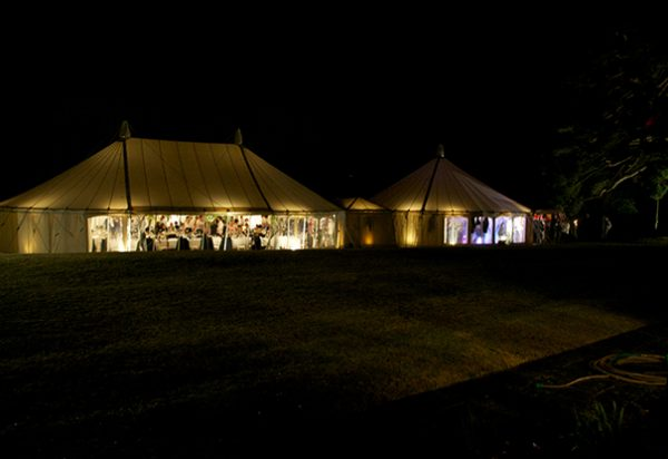 Wigwam Marquees round traditional canvas Hampshire Polly & Dan