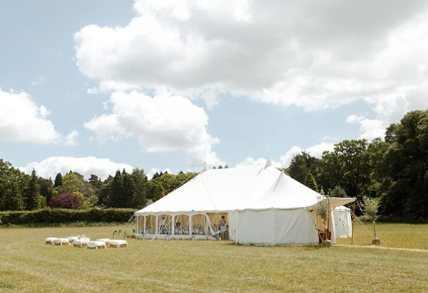 Wigwam Marquees Hampshire wedding round ended elegant interiors Shoina & Jim