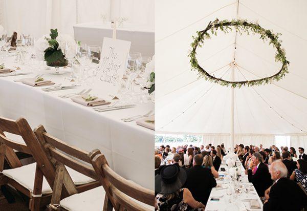 Wigwam Marquees Hampshire wedding round ended elegant interiors Shoina & Jim
