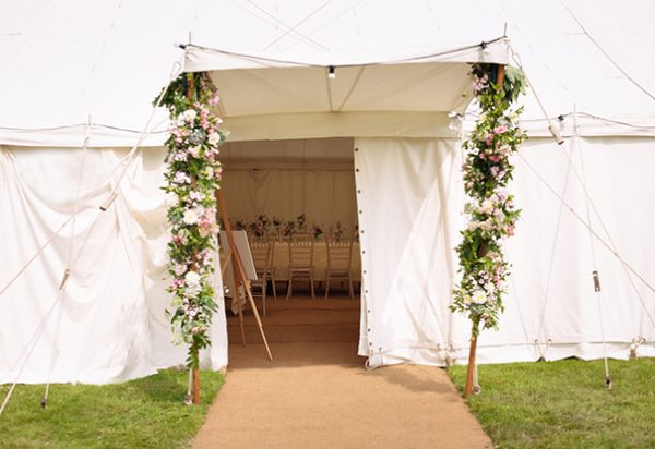 Wigwam Wedding Marquees Surrey round canvas traditional hire Alex & Lilly