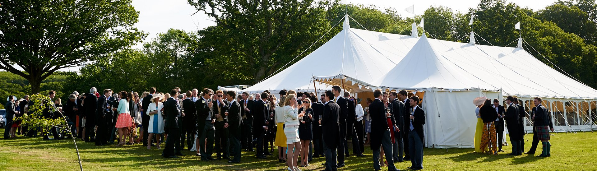 Wigwam Marquees traditional canvas party marquee hire Surrey round and Round Ended luxury marquees 7